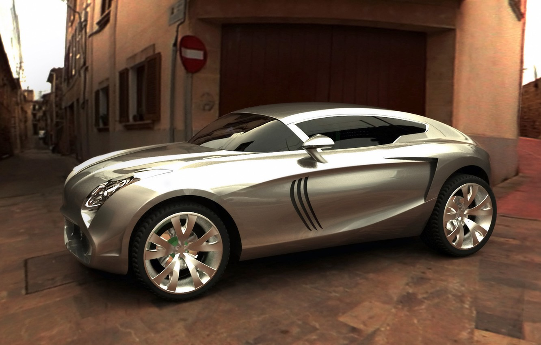 Фото обои серый, серебристый, концепт, кроссовер, Maserati Kubang