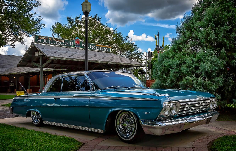 Фото обои ретро, Chevrolet, классика, Impala, Chevrolet Impala