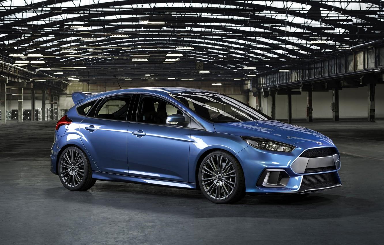 Фото обои фото, Ford, Голубой, Автомобиль, Сбоку, 2015, Металлик, Focus RS