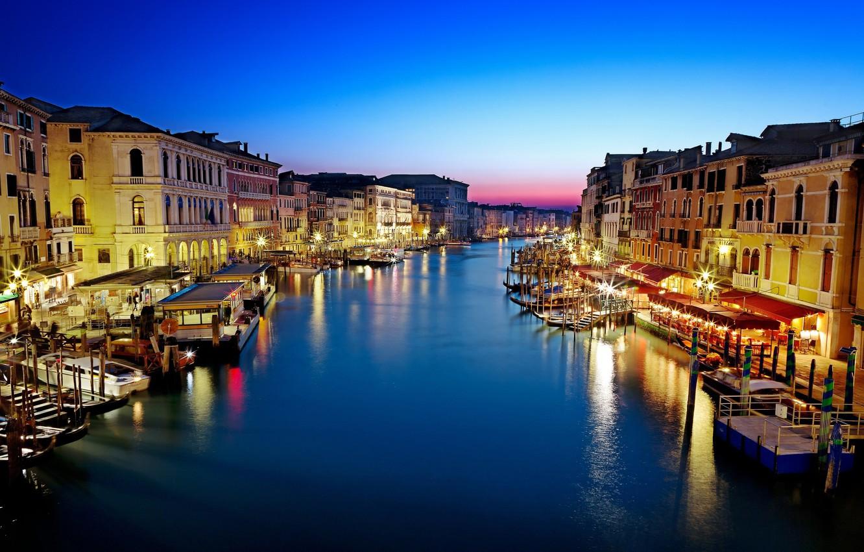 Обои венеция, italy, гондолы, здания, лодки, канал, venice. Города foto 6
