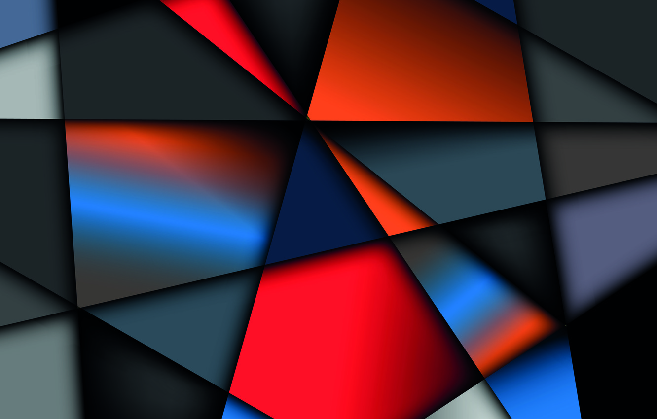 Обои background, geometry, shapes, colorful, vector. Абстракции foto 8