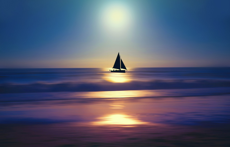 Фото обои life, Sunset, wind, journey, dreaming, sailing, discovering, exploring, sailing boat, endless sea, far way