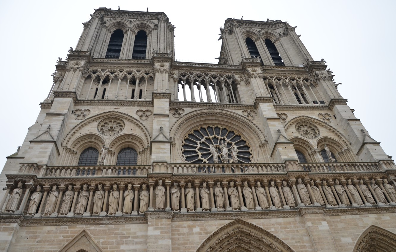 Фото обои Франция, Париж, Европа, собор, храм, Paris, архитектура, Собор Парижской Богоматери, France, Europe, Notre Dame de …