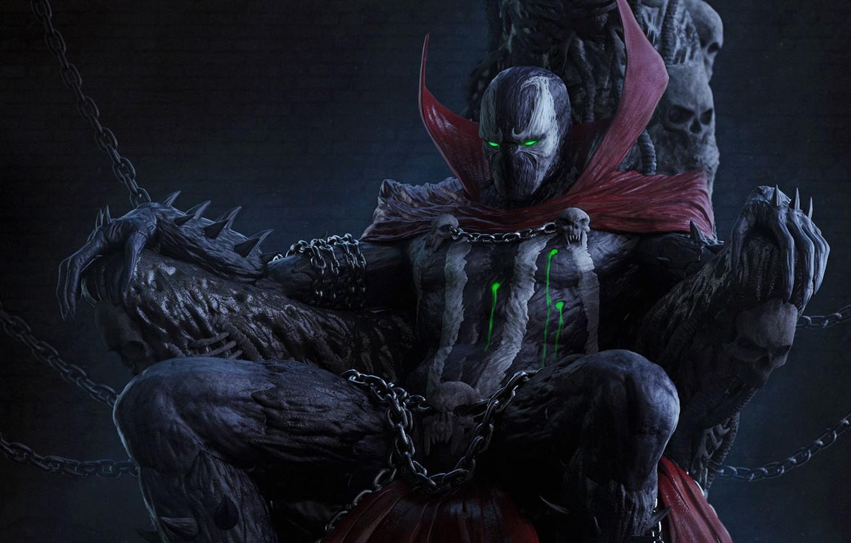 Фото обои костюм, comics, anti-hero, Спаун, spawn