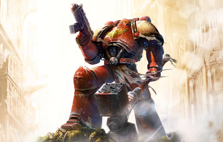 Фото обои оружие, Dawn Of War, Space Marine, Warhammer