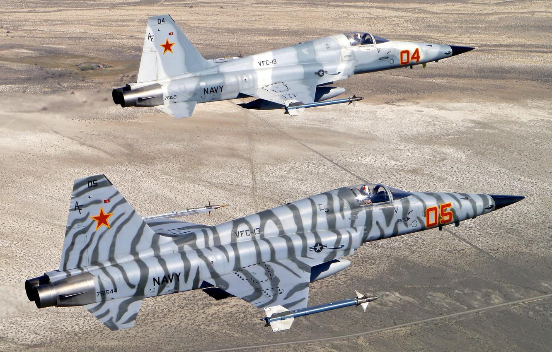 Обои истребители, «тайгер» ii, многоцелевые, F-5e, tiger ii. Авиация foto 15