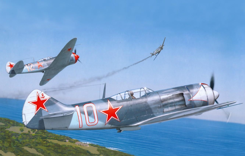Обои подбитый, советский, самолеты, истребитель. Авиация foto 11