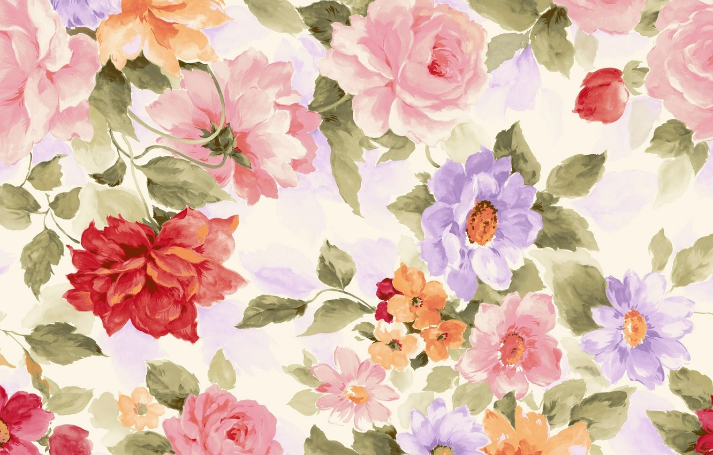 Фото обои цветы, краски, картина, текстура, лепестки, акварель