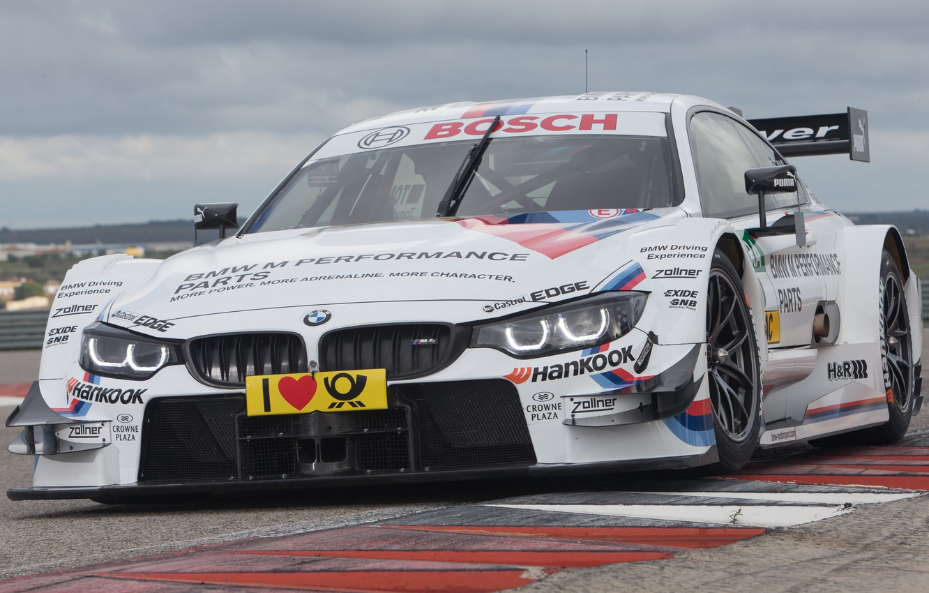 Фото обои BMW, Race, Front, Day, DTM, Track
