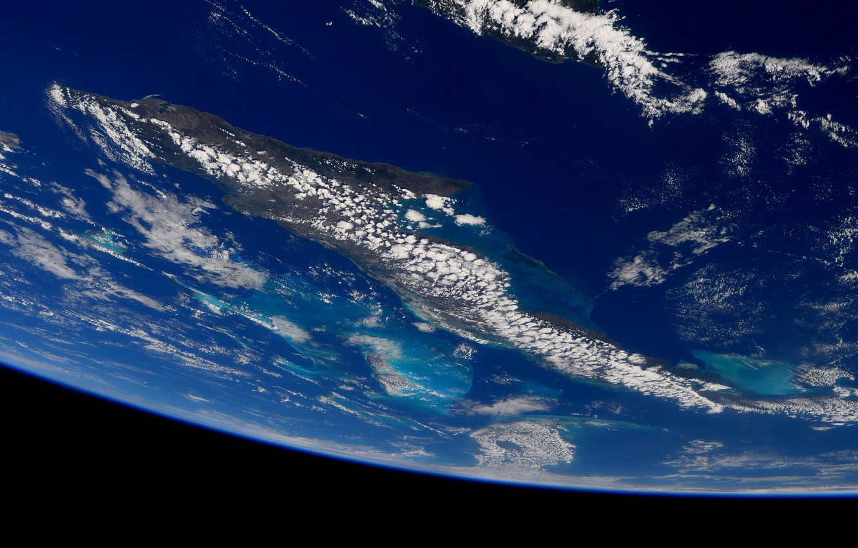 Фото обои космос, облака, планета, Земля, океаны