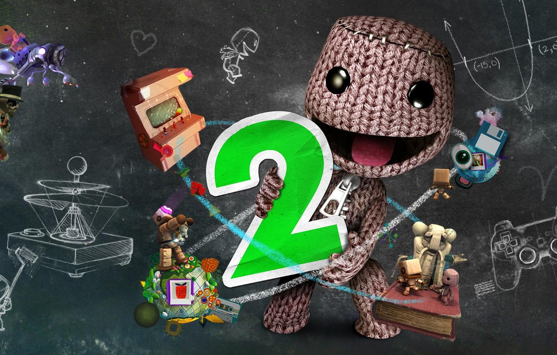 Фото обои игра, game, Little Big Planet, компьютерные игры, pc games, sackboy, видео игры, lbp2