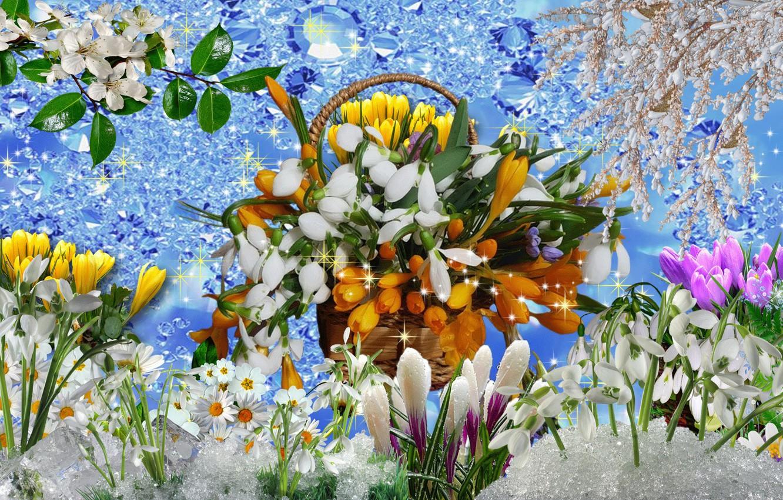 Открытки, красивые открытки про весну фото