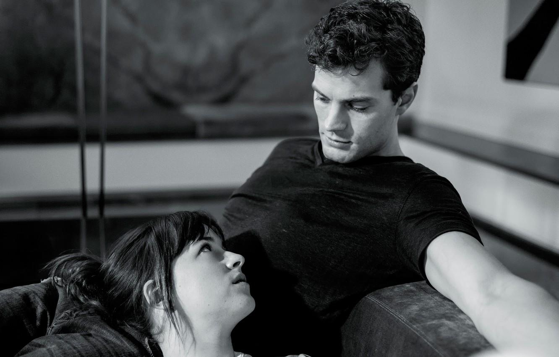 Фото обои Dakota Johnson, Jamie Dornan, Пятьдесят оттенков серого, Fifty Shades of Grey, в фильме