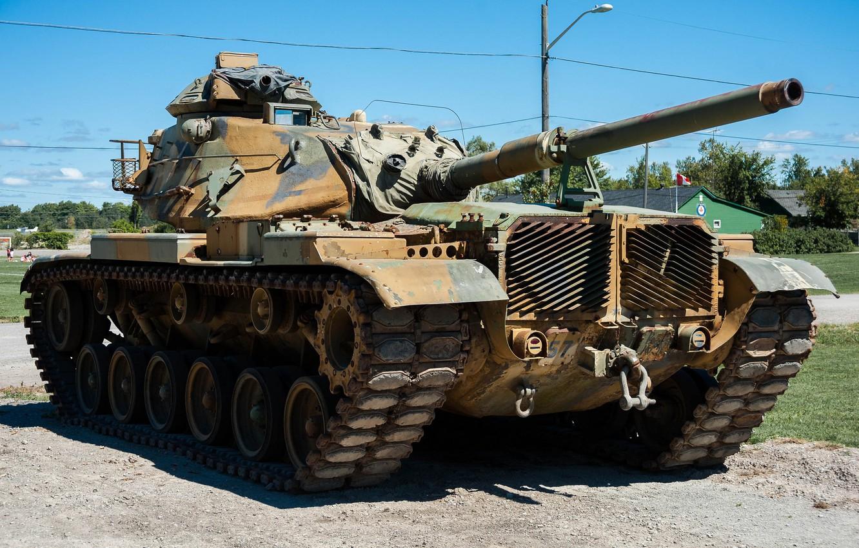 Фото обои танк, США, бронетехника, средний, M60, 1960-х годов