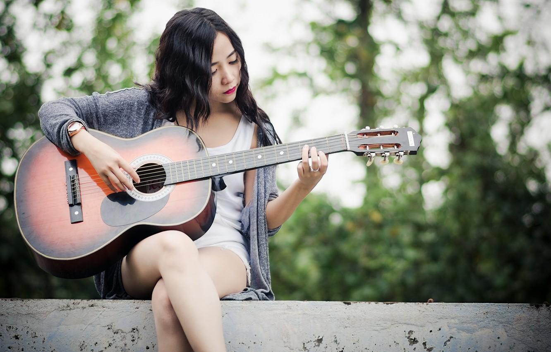 Смотреть картинки девушки с гитарой