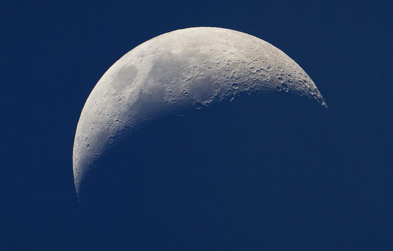 Фото обои Луна, тени, кратеры, моря