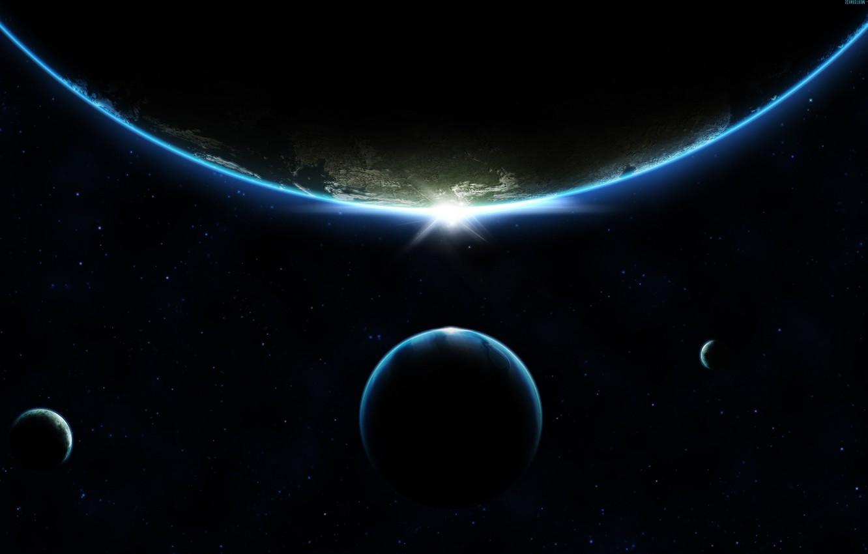 Обои sunrise, пространство. Космос foto 15