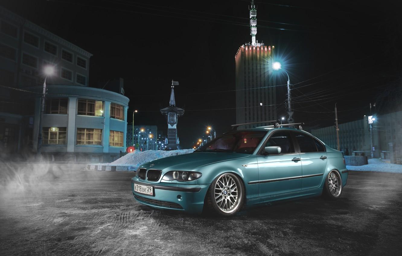 Фото обои BMW, Синяя, БМВ, E46, 3 Series