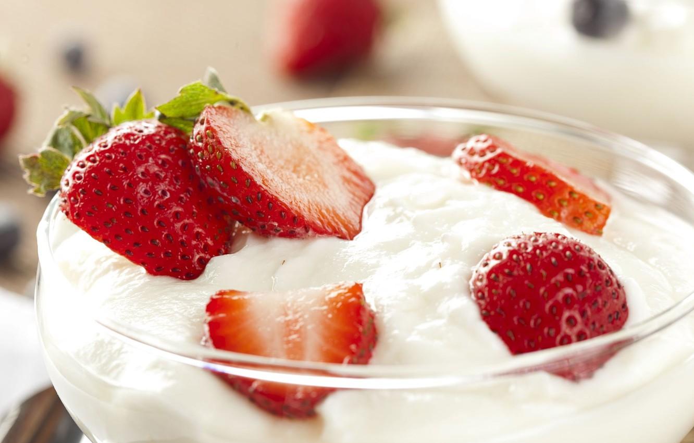 Фото обои фон, обои, еда, клубника, ягода, мороженое, wallpaper, десерт, широкоформатные, background, полноэкранные, HD wallpapers, широкоэкранные