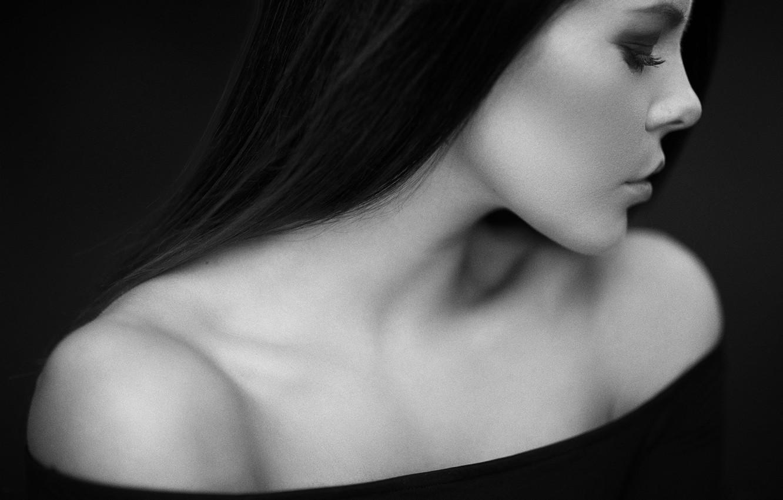 Фото обои лицо, женщина, beauty, black and white