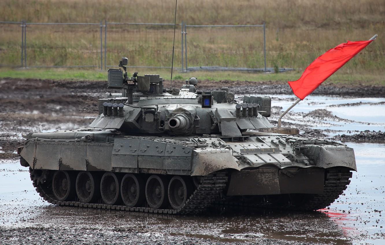 Фото обои танк, Россия, боевой, Т-80 У, Основной, Газотурбинный танк