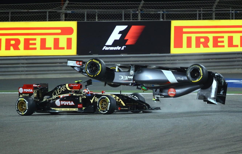 Фото обои Crash, grand prix, formula 1