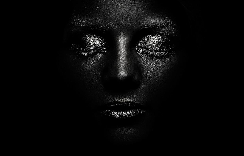 Фото обои фон, портрет, Black and white, Courage, Schwarzweiss