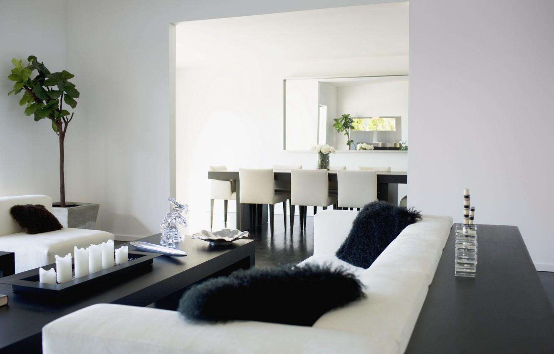 Фото обои листья, цветы, дизайн, дом, стиль, комната, диван, игра, растение, интерьер, подушки, шахматы, квартира, меховые