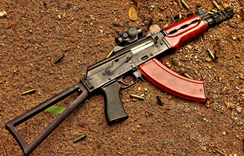 Фото обои оружие, автомат, гильзы, Застава, М92
