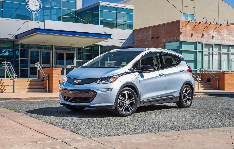 Фото обои Chevrolet, Автомобиль, Серебристый, Bolt, 2017, EV