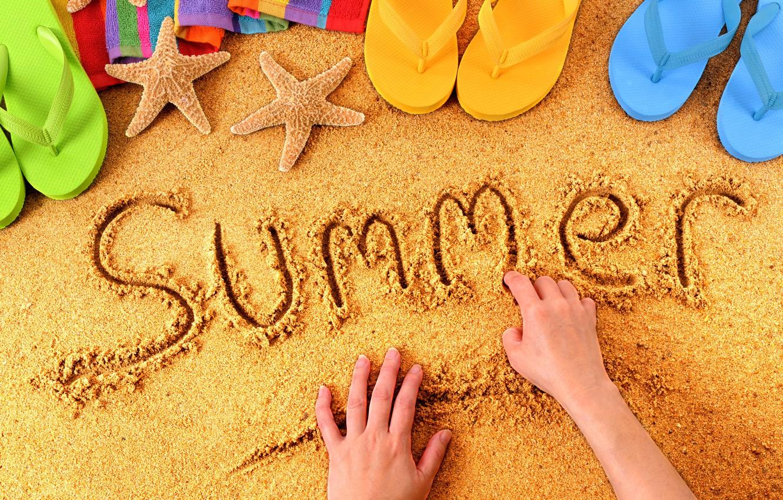 Фото обои summer, beach, sand