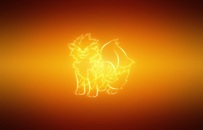 Фото обои линии, покемон, pokemon, arcanine