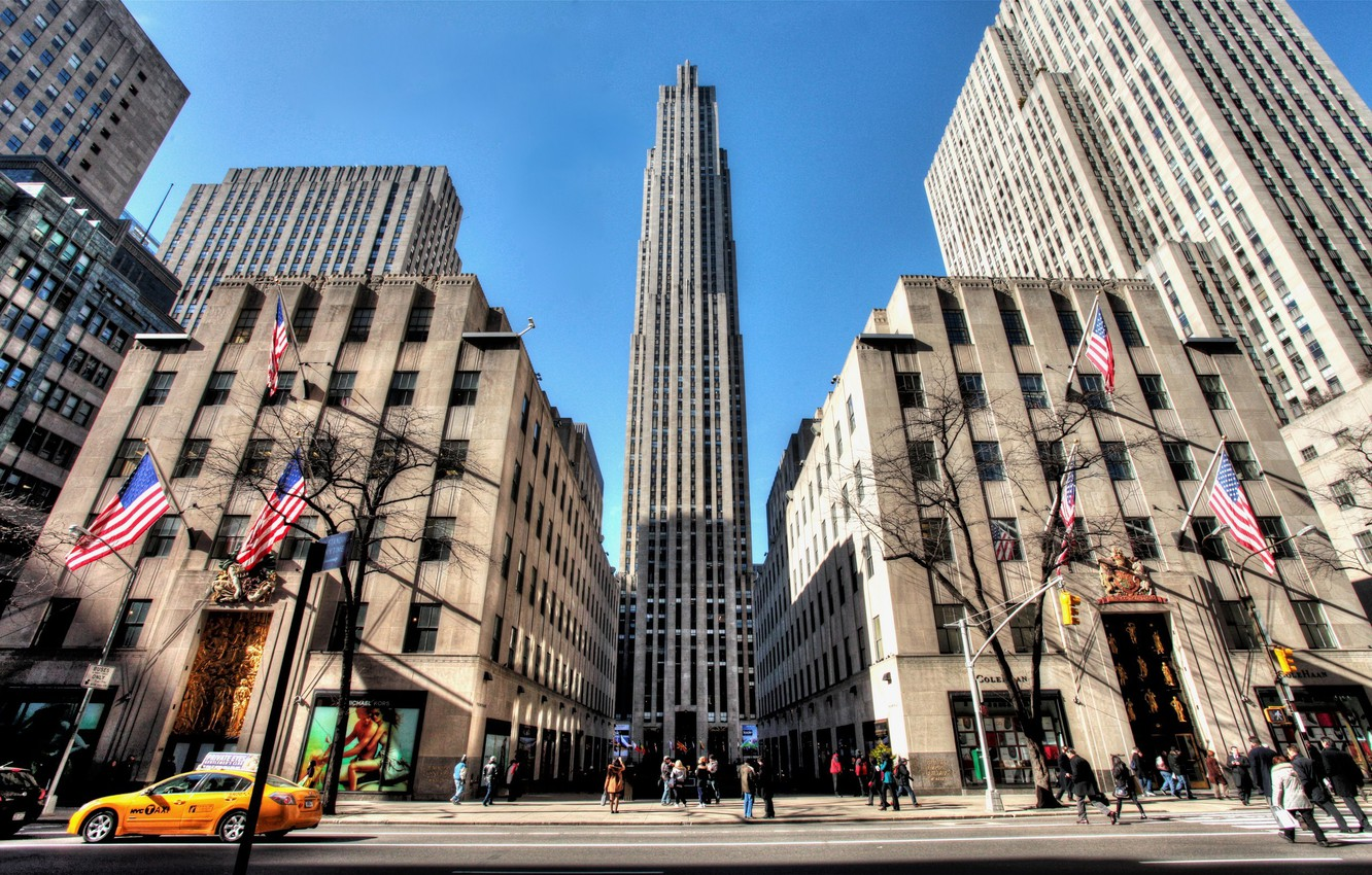 Обои new york, Rockefeller center, Nyc, 5th avenue. Города foto 6