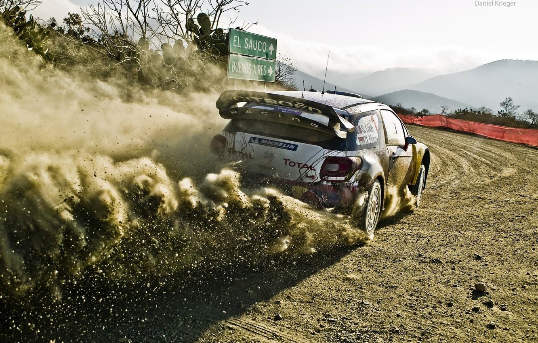 Фото обои car, пыль, грязь, 2012, rally, ралли, wrc, citroen, ds3