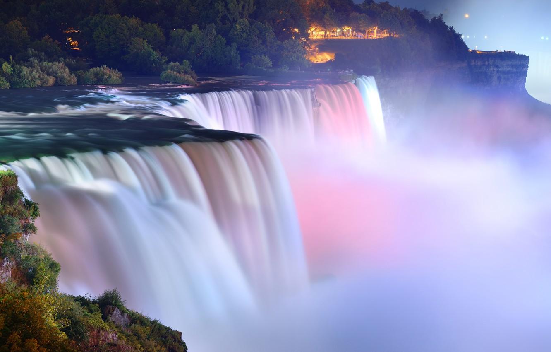 Обои фонари, водопад, park. Рендеринг foto 19