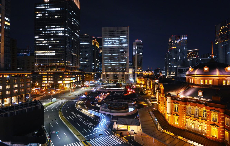 Обои Япония, ночь. Города foto 18