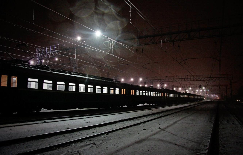 Обои ночь, Железная дорога. Разное foto 6