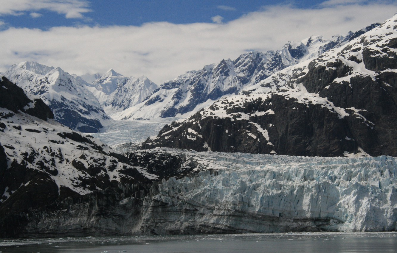 Фото обои Alaska, Ice, Glacier, Bay