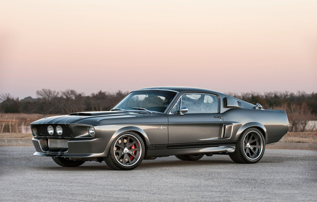 Фото обои Mustang, Ford, Shelby, GT500, GT500CR, 1967, Wheels, Equipped, Grip, Grudge