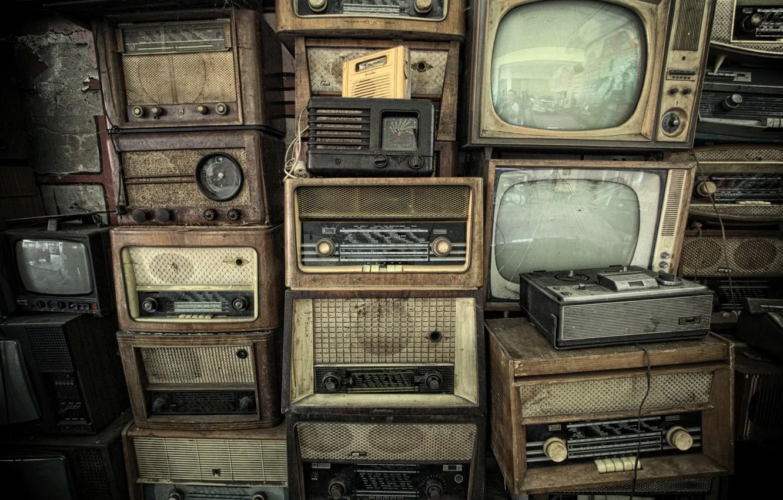 Фото обои радио, телевизор, магнитофон