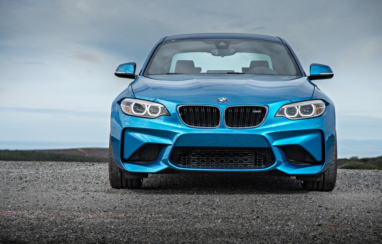 Фото обои морда, бмв, купе, BMW, синяя, Coupe, F87