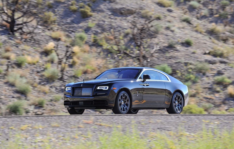 Фото обои car, купе, Rolls-Royce, автомобиль, wallpapers, роллс-ройс, Wraith, Black Badge