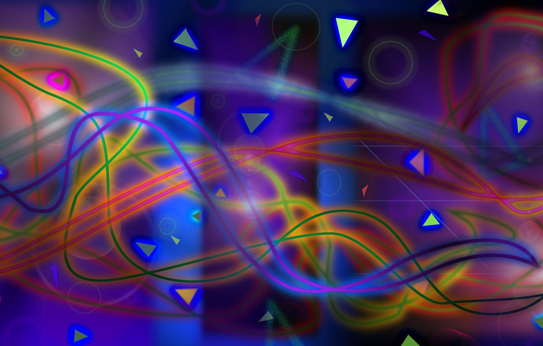 Обои узор, Цвет, хаос, свет. Абстракции foto 6