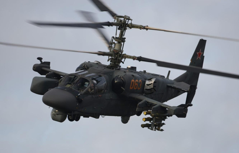 Обои ударный, российский, «аллигатор», Ка-52. Авиация foto 7