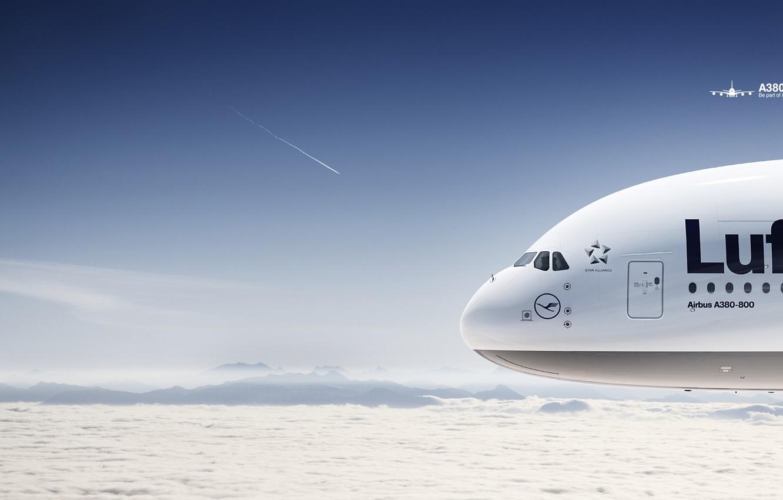 Фото обои авиация, самолет, боинг, А 380
