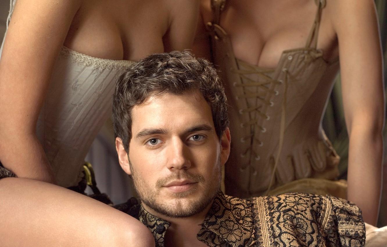 Фото обои грудь, актер, мужчина, корсет, сериал, Henry Cavill, Генри Кавилл, Tudors
