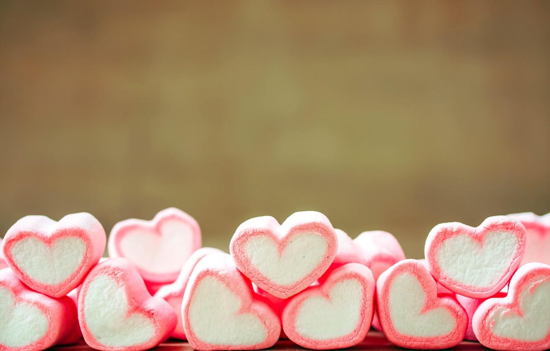 Фото обои любовь, романтика, конфеты, сердечки, love, heart, romantic, сладкое, sweet, candy, зефир