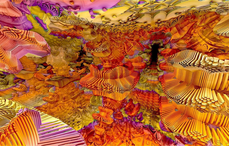 Обои форма, Цвет, абстракция, Fractal. Абстракции foto 9
