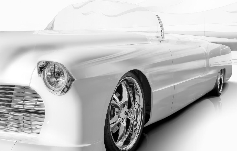 Фото обои фон, Cadillac, классика, передок, кадиллак, 1955