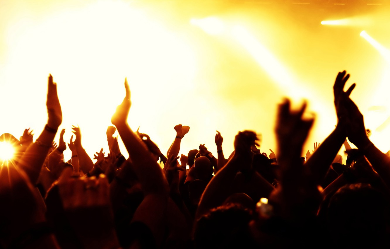 Фото обои свет, музыка, концерт, зрители